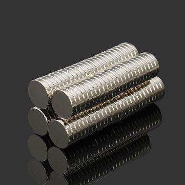 Effetool 100pcs N52 NdFeB Super Strong Disc Magnets 10mm x 2mm Rare Earth Neodymium Magnets