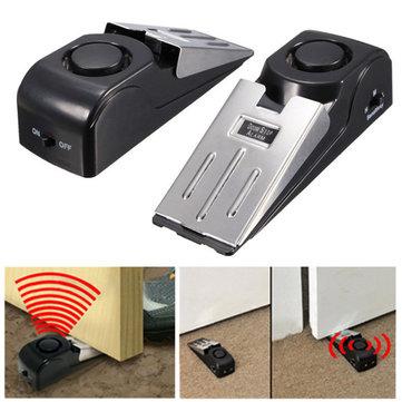 Door Stop Block Systerm Security Portable Burglar Sensors Alarm 125DB