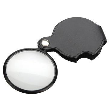 Baru 5X Hitam Mini Pocket Perhiasan Magnifier Kaca Pembesar Pembesar