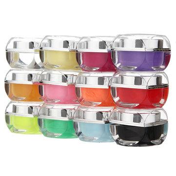 12 colori a tinta unita costruttore uv del chiodo gel art design smalto
