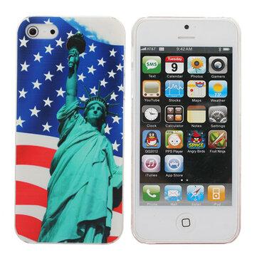 Frihetsgudinnen under flagget av US Mønster Hard Case For iPhone 5G