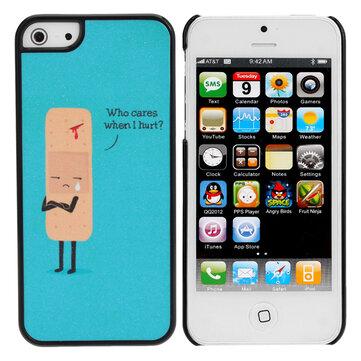 Søt Sad Cartoon Sår Plast Hard Cover Case Skin For iPhone 5